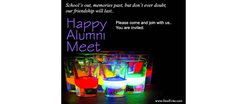 Alumni Meet party invitation