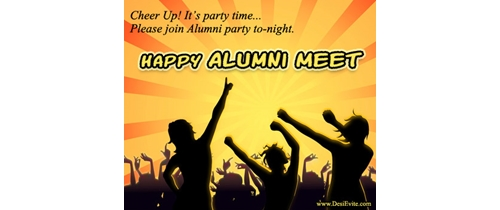Cheer up! It's Alumni Meet party time
