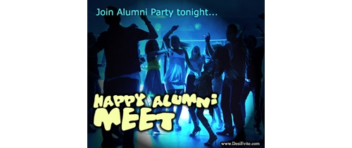 Join Alumni Meet party tonight