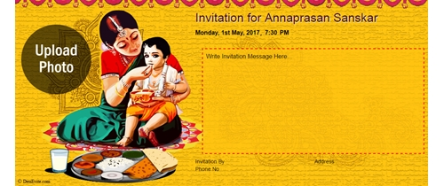 Free Annaprashan Sanskar Invitation Card Online Invitations