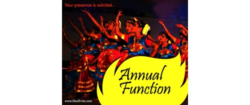 Annual Function invitation
