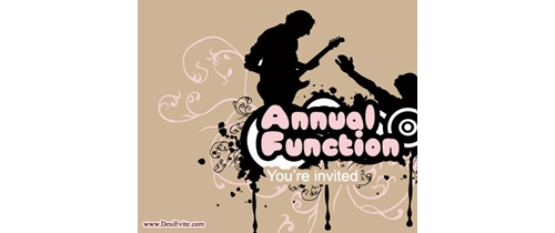 Annual Function You are invited