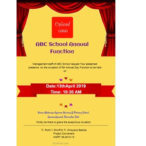 Free Annual Function Invitation Card Online Invitations