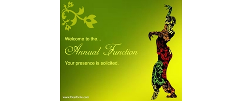 Your presence is solicited  on Annual Function