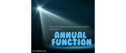 Be the part of Annual Function