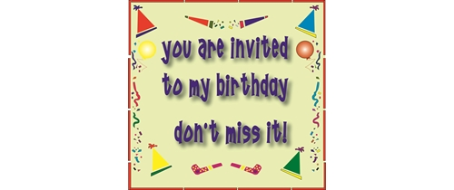 Birthday invitation 4