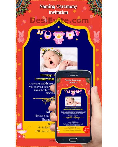 Premium Naming Ceremony Namakaran Invitation Card Online