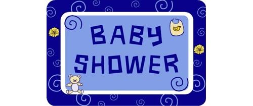 Baby Shower blue background Invitation