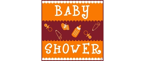 Baby Shower Party Invitation baby gears theme