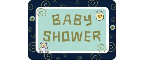 Baby Shower green background