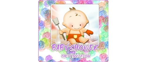 Baby Shower Party Invitation playing baby theme
