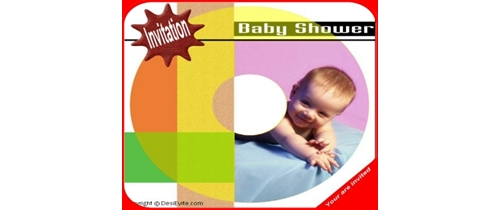 Invitation Baby Shower smiling baby theme