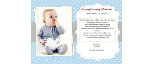 Free naming ceremony namakaran invitation card online invitations invitation with image naming ceremony invitation stopboris Images