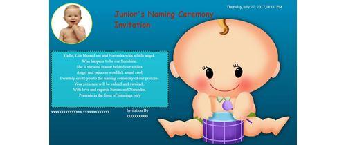 Free Naming Ceremony Namakaran Invitation Card Online Invitations
