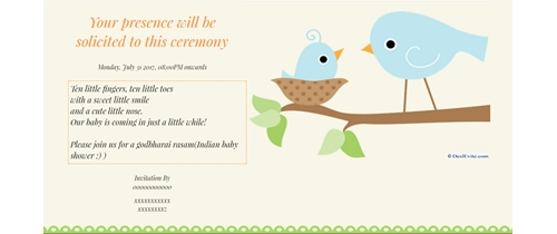 Ceremony of Godh Bharai Invitation