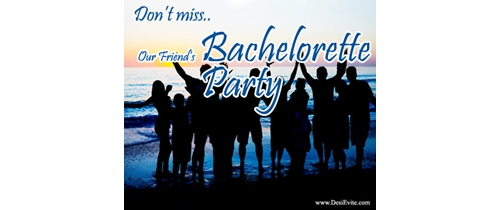Don't Miss our friends Bachelor Party