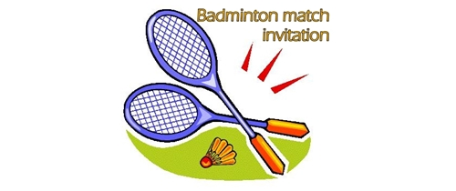 Badminton match/tournament/gam