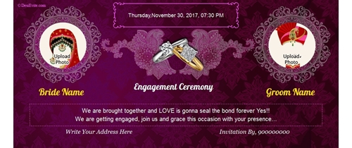 Traditional Engagement Card