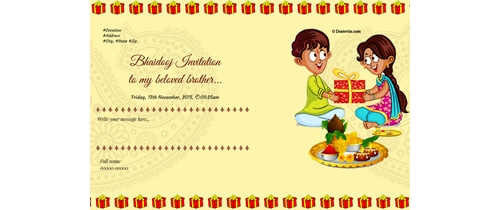 Bhaidooj Invitation