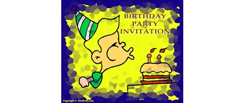 It's My Party Birthday Invitation please join us