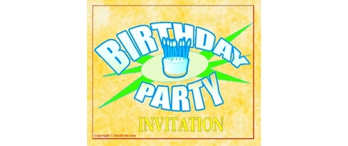 Invite you all of my Birthday Party to night