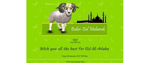 Eid-Ul-Adah Mubarak