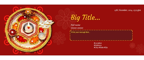 Bhai Dooj Invitation thaali