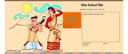 Free bihu invitation card online invitations invitation with image lets celebrate bihu m4hsunfo