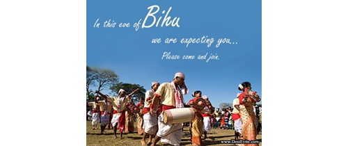 In this evening of Bihu Festival we are expecting you