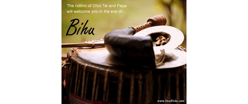 The ridthm of dhol-taal and pipa welcome you on Bihu Festival