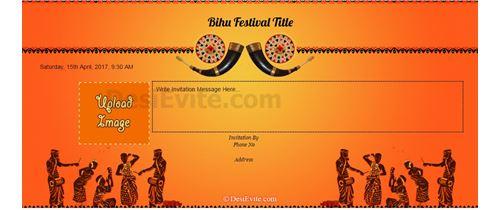 Bihu  the chief festival in the Assam state of India.