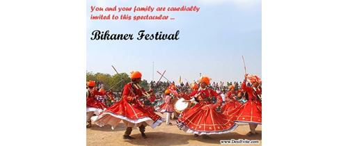 You are invited on Bikaner Festival