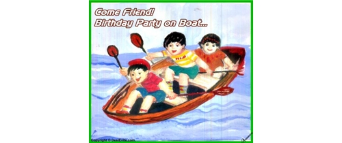 Come friend Birthday Party on boat