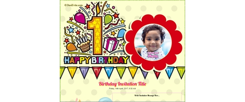 first birthday High Defination Invitation card
