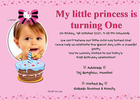 My little princes is turning One