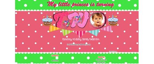 Free 2nd birthday invitation card online invitations invitation with image 2nd birthday invitation for girls filmwisefo