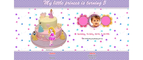 5th Birthday Invitation for Girls