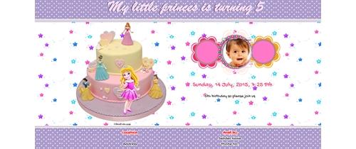 5th Birthday Invitation for Girls