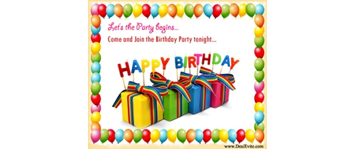 Let's party Begin come and join Birthday Party tonight