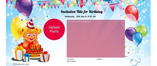 High Resolution Birthday Invitation card