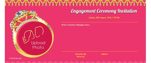 Engagement ceremony invitation card