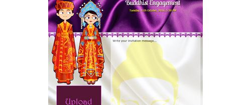 Engegment Invitation with buddha theme