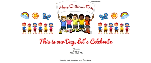 It's Childreen's Day  lets celebrate with us