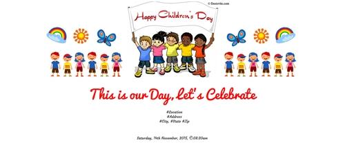 free children s day invitation card online invitations