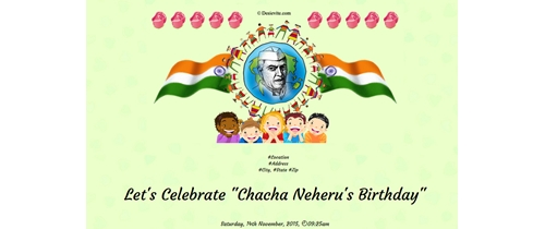 Chacha Neheru's Birthday Celebration