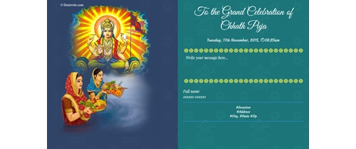 chhatt puja invitation