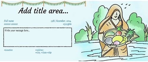 Invite on Chhath Puja