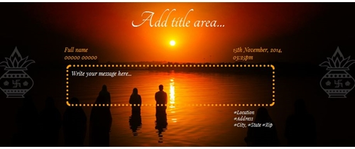 Chhath Puja Invitation
