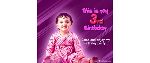 Please Join my 3rd Birthday Party