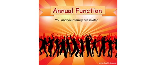 Write a letter to your friend about your school annual for Annual function decoration